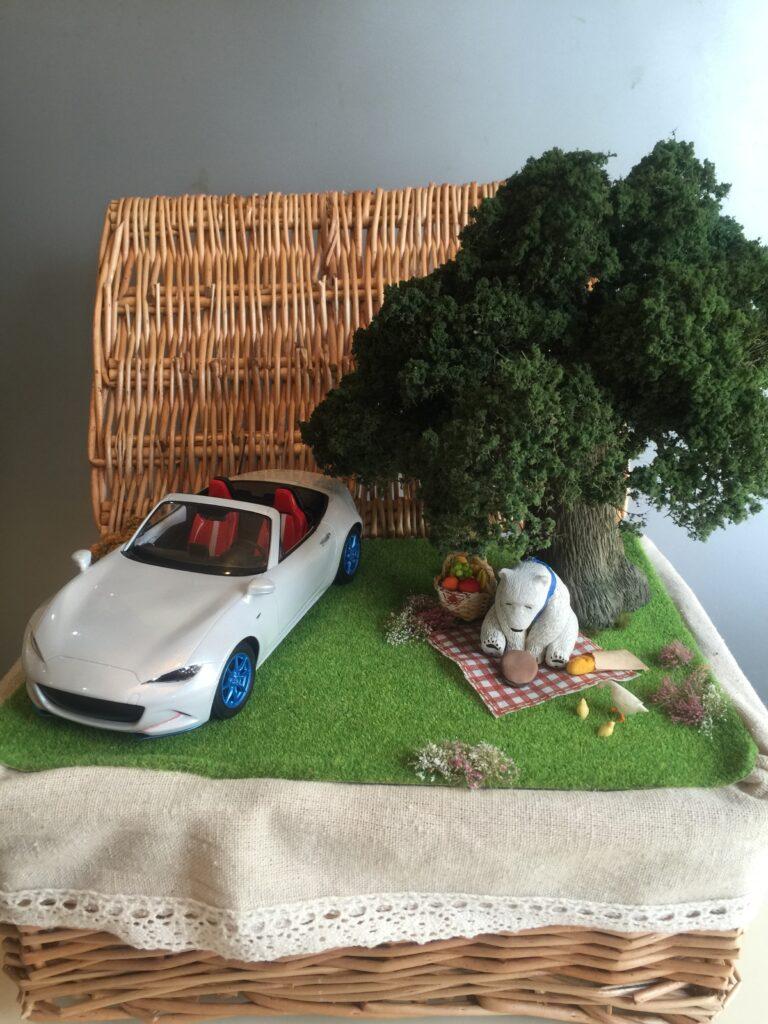 ピクニックのジオラマ